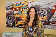 Bianca Senna (niece of Ayrton Senna and director of the Senna Foundation) in front of a painting of her uncle before the practice session for the 2017 Monaco Formula One Grand Prix at the Circuit de Monaco, Monte Carlo<br /> Picture by EXPA Pictures/Focus Images Ltd 07814482222<br /> 25/05/2017<br /> *** UK &amp; IRELAND ONLY ***<br /> <br /> EXPA-EIB-170525-0030.jpg