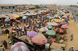 April 16, 2020, Lagos, Nigeria: Over view of Ibafo market, Ibafo is situated at Obafemi Owode Local Government Area in Ogun State, on April 15, 2020. Following suspension of lockdown by the State Government free days on today Wednesday April 15, and Friday April 17, 2020, from 7am to 2pm . Nigerian President Muhammadu Buhari on April 13, 2020, ordered a two-week extension to a lockdown in largest city Lagos, neighbouring Ogun state and capital Abuja, aimed at halting the spread of the COVID-19 coronavirus. (Credit Image: © Olukayode Jaiyeola/NurPhoto via ZUMA Press)