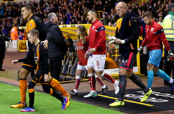 Bailey Wright of Bristol City leads his side out at Wolverhampton Wanderers - Mandatory by-line: Robbie Stephenson/JMP - 12/09/2017 - FOOTBALL - Molineux - Wolverhampton, England - Wolverhampton Wanderers v Bristol City - Sky Bet Championship