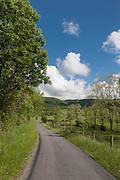 A scenic West Virginia country road in springRowan Memorial Home, Sweet Springs, West Virginia May 2011