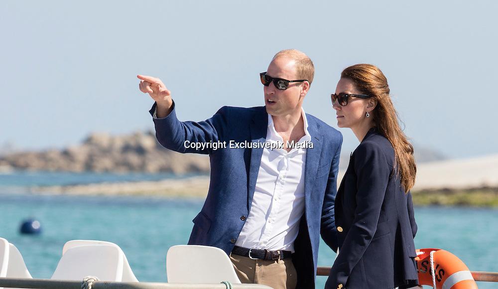 TRESCO - BRAZIL - 2nd Sept 2016.<br /> The Duke and Duchess of Cambridge visit the island of Tresco in the Scilly Isles. Walking though Tresco Gardens.<br /> @Ian Jones/Exclusivepix Media