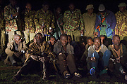 Poachers apprehended by anti-poaching team during night ambush <br /> Poachers found with wildebeest and thomson's gazelle meat<br /> Serengeti National Park, Tanzania