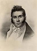 Thomas Say (1787-1834) American naturalist an entomologist. Halftone.
