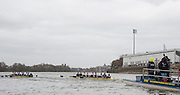 Putney. London, Varsity Fixtures, OUBC power away from Molesey BC in the first fixture of the day. OUBC vs Molesey BC. and CUBC vs Select NED crew. on the championship Course Putney to Mortlake.  ENGLAND. <br /> <br /> Saturday   21/03/2015<br /> <br /> [Mandatory Credit; Intersport-images]