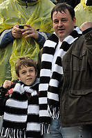 Photo: Tony Oudot/Richard Lane Photography. <br /> Gilingham Town v Swansea City. Coca-Cola League One. 12/04/2008. <br /> Swansea fans celebrate promotion to the Championship