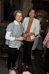 Left to right, VISCOUNTESS LINLEY and the COUNTESS OF WOOLTON at a lunch in aid of the charity Kids Company held at Mark's Club, 46 Charles Street, London on 3rd October 2011.