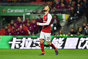 Bernardo Silva (20) of Manchester City looks frustrated, looks dejected during the EFL Cup Final match between Arsenal and Manchester City at Wembley Stadium, London, England on 25 February 2018. Picture by Graham Hunt.