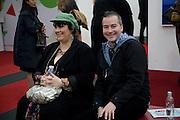 FREUD MODEL; SUE TILLEY; DONALD URQUHART, Frieze Art Fair 2008. Regent's Park. London. 15 October 2008 *** Local Caption *** -DO NOT ARCHIVE -Copyright Photograph by Dafydd Jones. 248 Clapham Rd. London SW9 0PZ. Tel 0207 820 0771. www.dafjones.com
