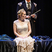 Pacific Music Works and UW School of Music production of Magic Flute. Sarastro and Pamina.