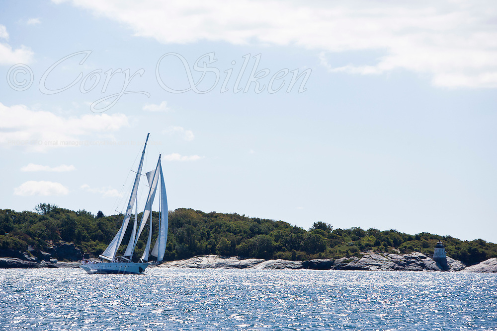 Gloria sailing in the Newport Bucket Regatta, race 1.