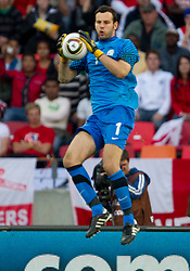 Goalkeeper of Slovenia Samir Handanovic during the 2010 FIFA World Cup South Africa Group C Third Round match between Slovenia and England on June 23, 2010 at Nelson Mandela Bay Stadium, Port Elizabeth, South Africa. England defeated Slovenia 1-0 and qualified for the next round, Slovenia not. (Photo by Vid Ponikvar / Sportida)
