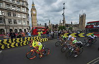 LONDON UK 30TH JULY 2016:  Jasinska Malgorzata Parliament Square. The Prudential RideLondon Classique elite womens' race. Prudential RideLondon in London 30th July 2016<br /> <br /> Photo: Bob Martin/Silverhub for Prudential RideLondon<br /> <br /> Prudential RideLondon is the world's greatest festival of cycling, involving 95,000+ cyclists – from Olympic champions to a free family fun ride - riding in events over closed roads in London and Surrey over the weekend of 29th to 31st July 2016. <br /> <br /> See www.PrudentialRideLondon.co.uk for more.<br /> <br /> For further information: media@londonmarathonevents.co.uk