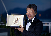 Director Hirokazu Kore-Eda, winner of the Palme d'Or for the film Shoplifters (Manbiki Kazoku) at the Award Winner's photo call at the 71st Cannes Film Festival, Saturday 19th May 2018, Cannes, France. Photo credit: Doreen Kennedy