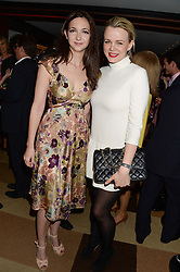 Left to right, CELIA WEINSTOCK and SOPHIE MICHELL at a party to celebrate Ben Goldsmith guest-editing the July/August 2013 edition of Spears Magazine held at 45 Park Lane, London on 19th June 2013.