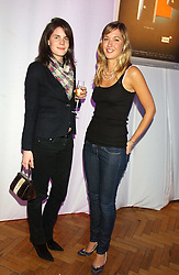 Left to right, LADY LAURA CATHCART and MISS MIMA LOPES sister of Harry Lopes fiance of Laura Parker Bowles at a party to celebrate the centenary of Montblanc held at Lindley Hall, Elverton Street, London SW1 on 9th March 2006.<br /><br />NON EXCLUSIVE - WORLD RIGHTS