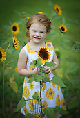 Alyssa & Sunflowers 8-2017