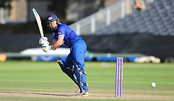 Gloucestershire's Geraint Jones clips off his legs during his innings- Mandatory byline: Alex Davidson/JMP - 07966386802 - 26/08/2015 - Cricket - County Ground -Bristol,England - Gloucestershire v Hampshire  - Royal London One Day Cup Quarter-Final - Quarter Final