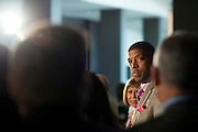 Sacramento Mayor and President of the United States Conference of Mayors, Kevin Johnson, speaks during a press conference to begin 82nd annual meeting at the Omni Hotel in Dallas, Texas on June 20, 2014.  (Cooper Neill for The New York Times)