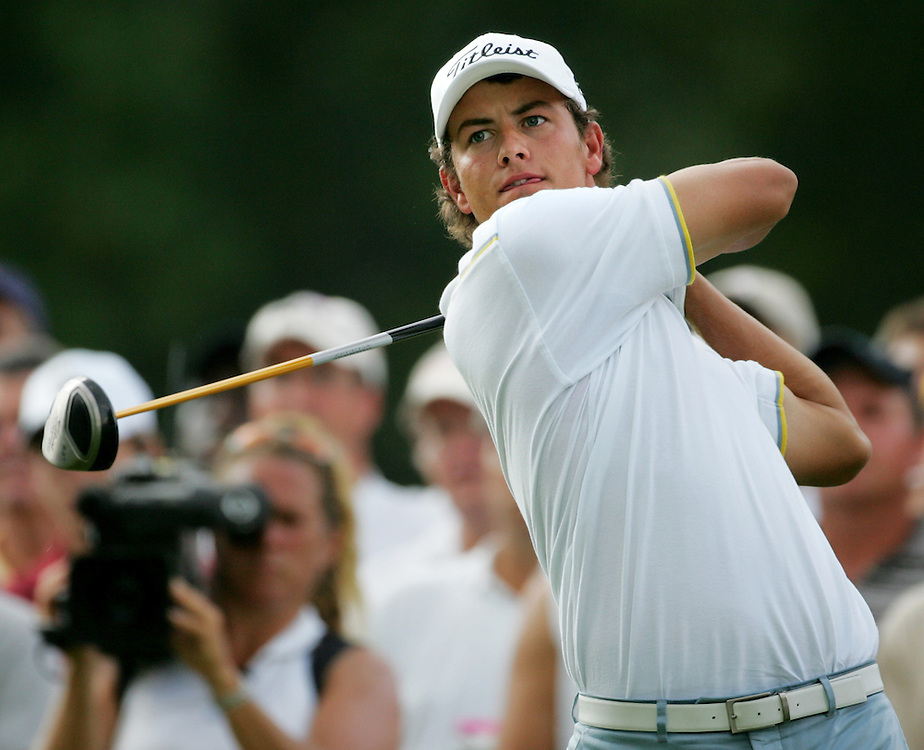 Australian golfer Adam Scott is seen during the first round of the 2005 PGA Championship at Baltusrol Golf Club in Springfield, New Jersey, Thursday 11 August 2005.