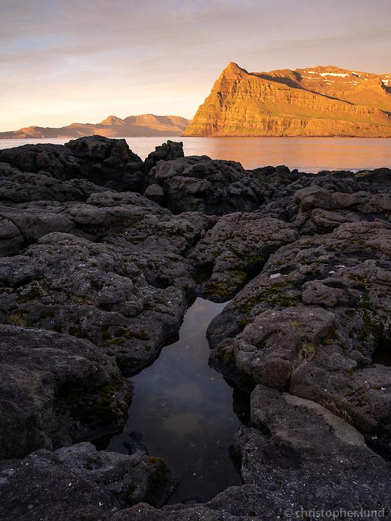 Sunrise in Mjóifjörður, East fiords of Iceland.