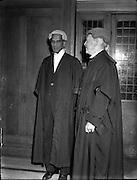 11/08/1952<br /> 8/11/1952<br /> 11 August 1952<br /> <br /> Indian Ambassador to Ireland, Mr V K Krishna Menon (left) is called to the Bar