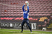 Bradford City goalkeeper Ben Williams  during the The FA Cup match between Bradford City and Bury at the Coral Windows Stadium, Bradford, England on 19 January 2016. Photo by Simon Davies.