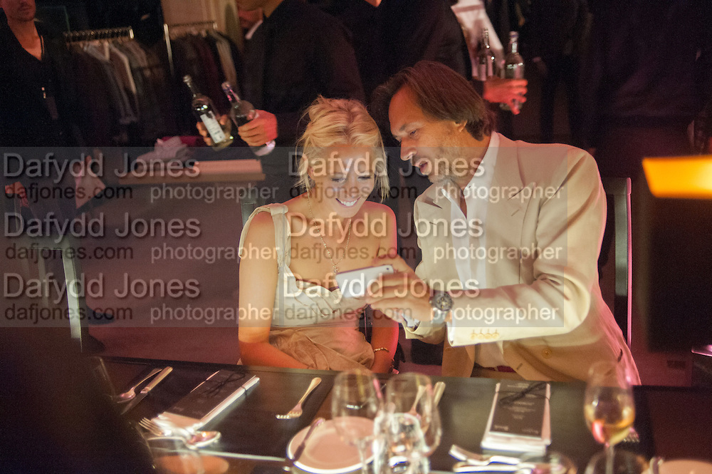 SOPHIA HESKETH; MARC NEWSON, Dinner to celebrate the opening of the first Berluti lifestyle store hosted by Antoine Arnault and Marigay Mckee. Harrods. London. 5 September 2012.