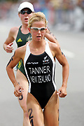 New Zealand triathlete Debbie Tanner competes in the Women's Triathlon race on Day 3 of the XVIII Commonwealth Games at St.Kilda, Melbourne, Australia on Saturday 18 March, 2006. Photo: Sport the Library / www.photosport.nz