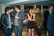 BARRY REIGATE; KEITH TYSON; KIM HERSOV; MEREDITH OSTROM, Polly Morgan 30th birthday. The Ivy Club. London. 20 January 2010