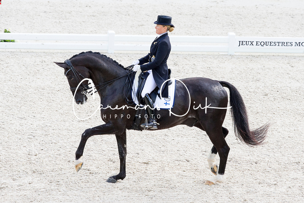 Mikaela Lindh, (FIN), Skovlunds Mas Guapo - Grand Prix Team Competition Dressage - Alltech FEI World Equestrian Games&trade; 2014 - Normandy, France.<br /> &copy; Hippo Foto Team - Leanjo de Koster<br /> 25/06/14
