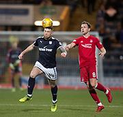 8th December 2017, Dens Park, Dundee, Scotland; Scottish Premier League football, Dundee versus Aberdeen; Dundee's Kerr Waddell and Aberdeen's Greg Stewart