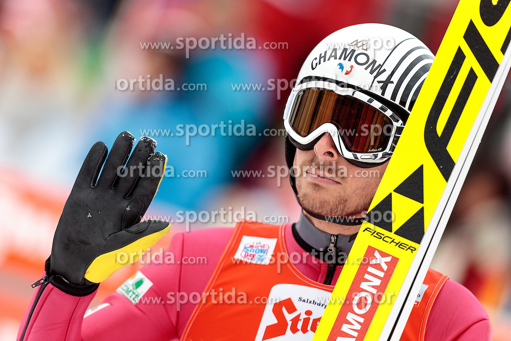 18.12.2016, Nordische Arena, Ramsau, AUT, FIS Weltcup Nordische Kombination, Skisprung, im Bild Francois Braud (FRA) // Francois Braud of France reacts during Skijumping Competition of FIS Nordic Combined World Cup, at the Nordic Arena in Ramsau, Austria on 2016/12/18. EXPA Pictures © 2016, PhotoCredit: EXPA/ JFK