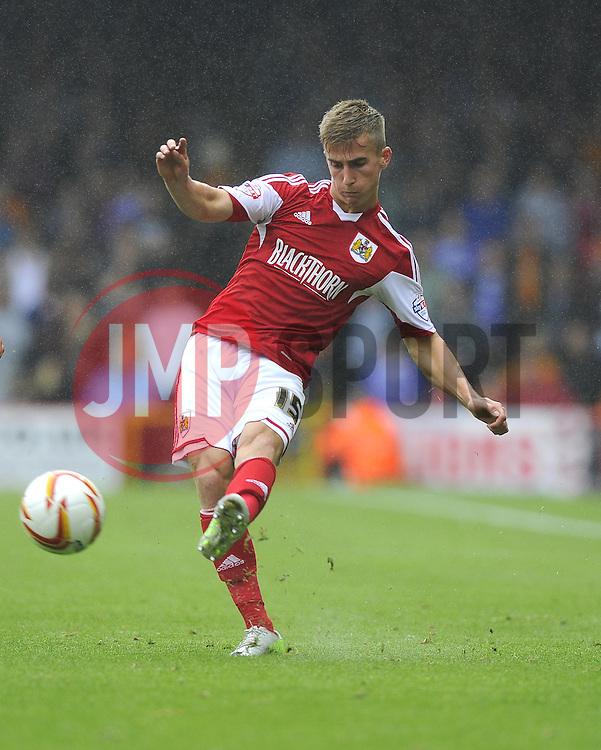 Bristol City's Joe Bryan crosses the ball  - Photo mandatory by-line: Joe Meredith/JMP - Tel: Mobile: 07966 386802 17/08/2013 - SPORT - FOOTBALL - Ashton Gate - Bristol -  Bristol City V Wolves - Sky Bet League One