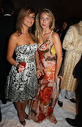 Left to right, model DANIELLE LLOYD and singer SUMMER WATSON at the British Red Cross London Ball held at The Room by The River, 99 Upper Ground, London SE1 on 16th November 2006.<br />