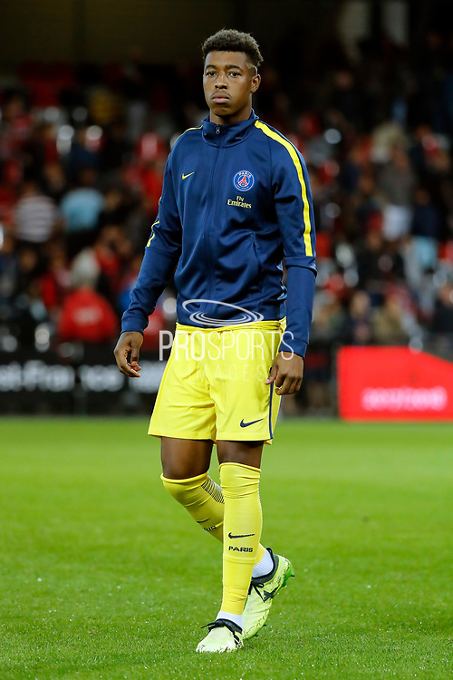 Presnel Kimpembe (PSG) during the French championship L1 football match between EA Guingamp v Paris Saint-Germain, on August 13, 2017 at the Roudourou stadium in Guingamp, France - Photo Stephane Allaman / ProSportsImages / DPPI