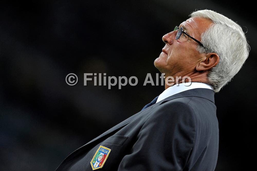 Italia vs Bulgaria - Qualificazioni Mondiali 2010<br /> Torino - 09/09/2009<br /> sport calcio nazionale<br /> Nella foto: Marcello Lippi