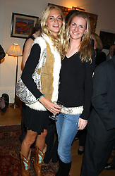 CHLOE & POPPY DELEVINGNE at a Conservative Party Reception for the Art held at 24 Thurloe Square, Lndon SW7 on 5th April 2005.<br />