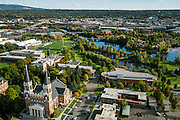 Drone photos of campus by Gravity.
