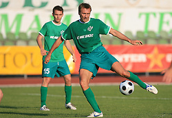 Miha Sporar of Olimpija at final match of 2nd SNL league between NK Olimpija in NK Aluminij, on May 23, 2009, ZAK, Ljubljana, Slovenia. Aluminij won 2:1. NK Olimpija is a Champion of 2nd SNL and thus qualified to 1st Slovenian football league for season 2009/2010. (Photo by Vid Ponikvar / Sportida)
