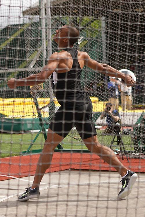 Olympic Trials Eugene 2012: Decathlon, Discus, Ashton Eaton