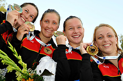 15.08.2010, Budapest, Ungarn, HUN, Schwimmeuropameisterschaften, Budapest 2010, im Bild Women's 4x100m medley relay: Germany bronze medal.Swimming European Championships Budapest 2010 - Campionati Europei di Nuoto Budapest 2010.Swimming finals - Finali di nuoto.EXPA Pictures © 2010, PhotoCredit: EXPA/ InsideFoto/ Giorgio Perottino +++++ ATTENTION - FOR AUSTRIA AND SLOVENIA CLIENT ONLY +++++.