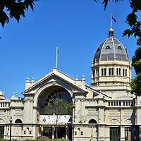 Royal Exhibition Building in Carlton Gardens in Melbourne, Australia<br />