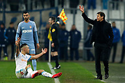 Olympique de Marseille's French coach Rudy Garcia gestures during the French Championship Ligue 1 football match between Olympique de Marseille and AS Monaco on January 28, 2018 at the Orange Velodrome stadium in Marseille, France - Photo Benjamin Cremel / ProSportsImages / DPPI