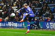 Leeds United midfielder Ezgjan Alioski (10) brings the ball under control during the EFL Sky Bet Championship match between Preston North End and Leeds United at Deepdale, Preston, England on 10 April 2018. Picture by Simon Davies.