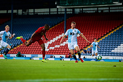 BLACKBURN, ENGLAND - Thursday, July 19, 2018: Liverpool's Daniel Sturridge scores the second goal during a preseason friendly match between Blackburn Rovers FC and Liverpool FC at Ewood Park. (Pic by Paul Greenwood/Propaganda)