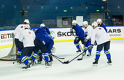Practice session of Team Slovenia at the 2017 IIHF Men's World Championship, on May 11, 2017 in AccorHotels Arena in Paris, France. Photo by Vid Ponikvar / Sportida