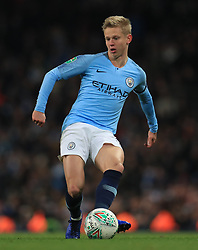 """Manchester City's Oleksandr Zinchenko during the Carabao Cup, Fourth Round match at the Etihad Stadium, Manchester. PRESS ASSOCIATION Photo. Picture date: Thursday November 1, 2018. See PA story SOCCER Manchester. Photo credit should read: Mike Egerton/PA Wire. RESTRICTIONS: EDITORIAL USE ONLY No use with unauthorised audio, video, data, fixture lists, club/league logos or """"live"""" services. Online in-match use limited to 120 images, no video emulation. No use in betting, games or single club/league/player publications."""