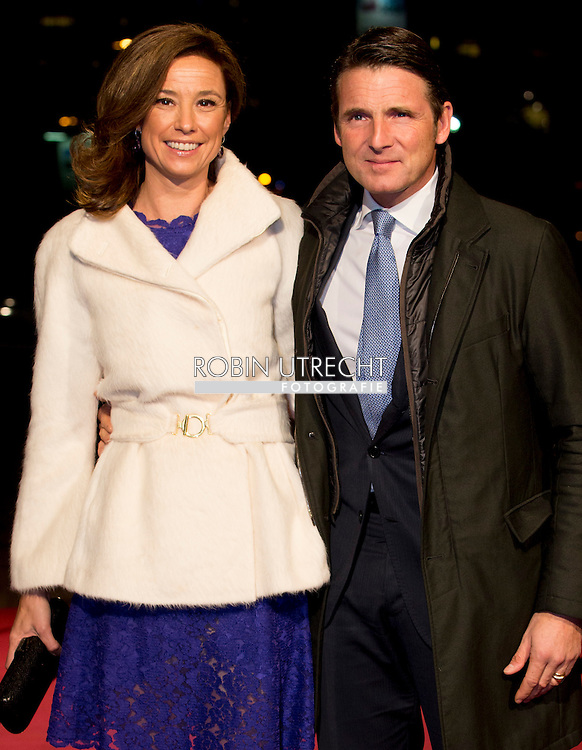 UTRECHT - Prince Maurits and Princess Marilene  arrive in Utrecht Dutch royal family attend the 75th birthday anniversary of Pieter van Vollenhoven and the 25th jubilee of the Fonds Slachtofferhulp (Victim Fund) in Utrecht. COPYRIGHT ROBIN UTRECHT