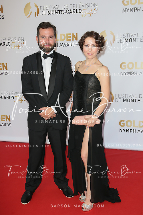 MONTE-CARLO, MONACO - JUNE 11:  Mark Podrabinek - Russian TV personality and Agata Gotova attend the Closing Ceremony and Golden Nymph Awards of the 54th Monte Carlo TV Festival on June 11, 2014 in Monte-Carlo, Monaco.  (Photo by Tony Barson/FilmMagic)