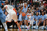 January 3, 2015: N'Dea Bryant #22 of North Carolina in action during the NCAA basketball game between the Miami Hurricanes and the North Carolina Tar Heels in Coral Gables, Florida. The Tar Heels defeated the 'Canes 66-65.